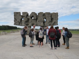 The Memorial entrance to the Majdanek Death Camp.