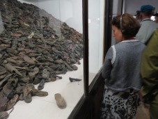 An exhibit of some of the shoes found in Canada (a sort of storage for stolen items) in Auschwitz and Birkenau.
